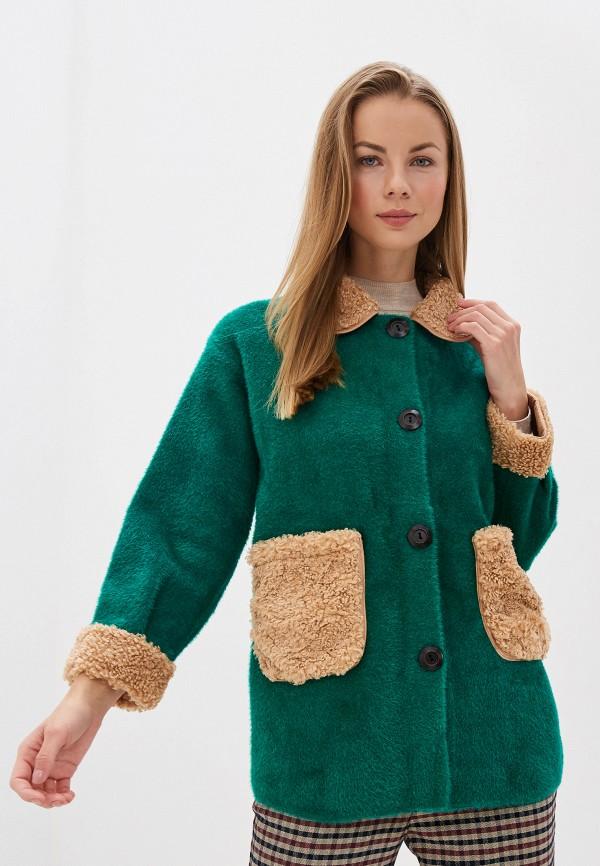 Фото - Женское пальто или плащ Fadas зеленого цвета