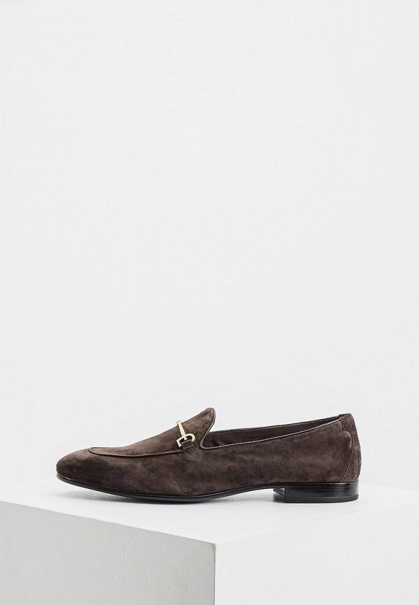 мужские лоферы fabi, коричневые