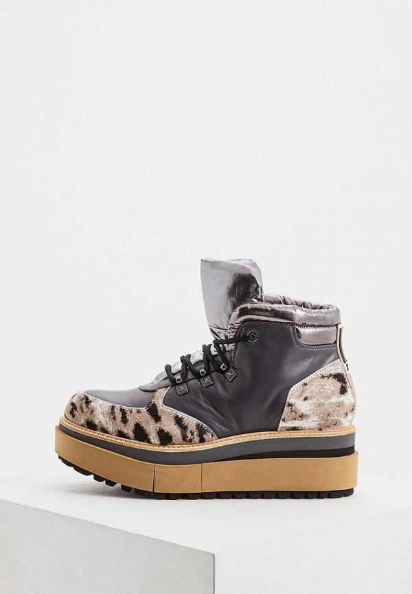 женские высокие ботинки fabi, серые