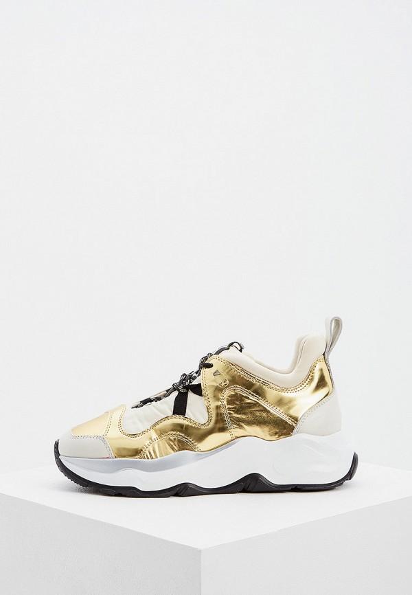 женские кроссовки fabi, золотые