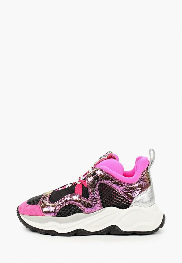 женские кроссовки fabi, розовые