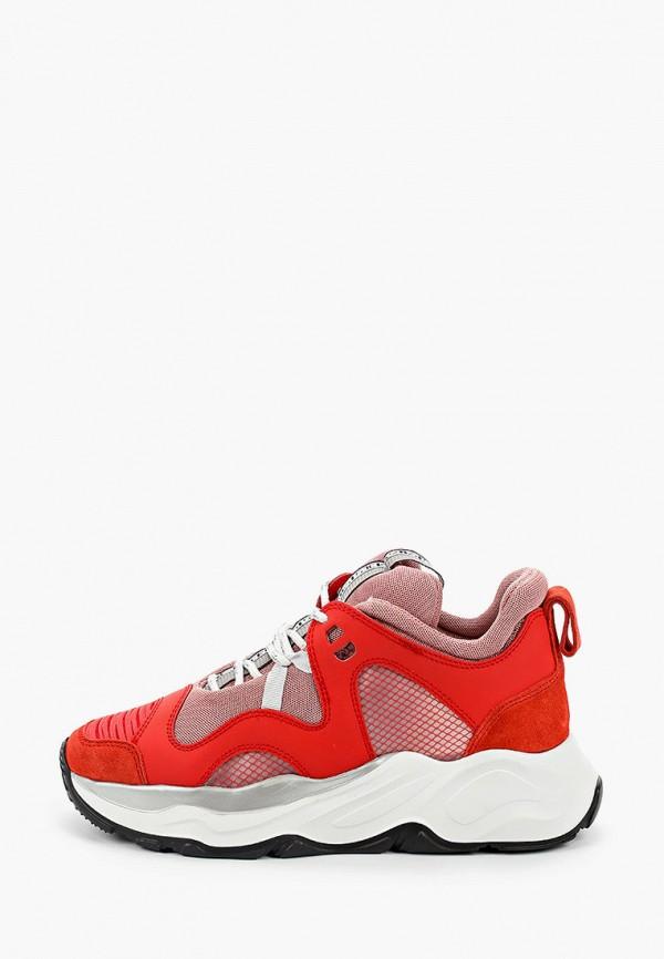 женские кроссовки fabi, красные