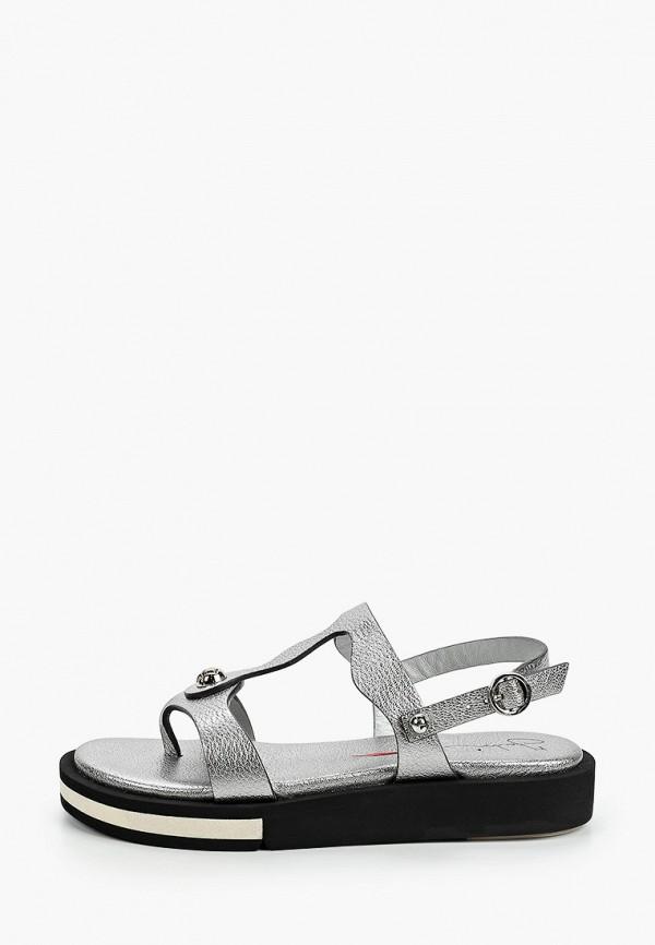 женские сандалии fabi, серебряные