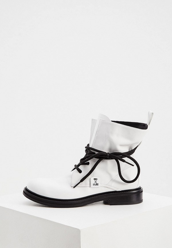 женские высокие ботинки fabi, белые