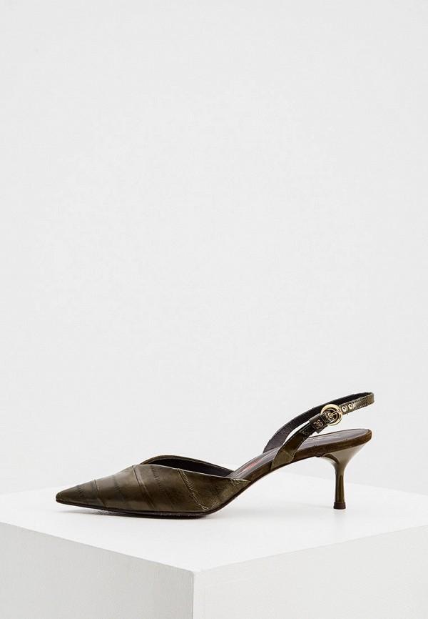 женские туфли fabi, хаки