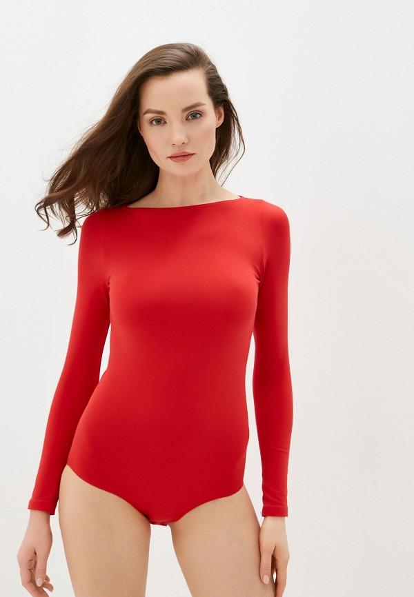 женские боди falke, красные