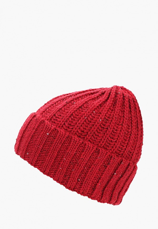 женская шапка fete, красная