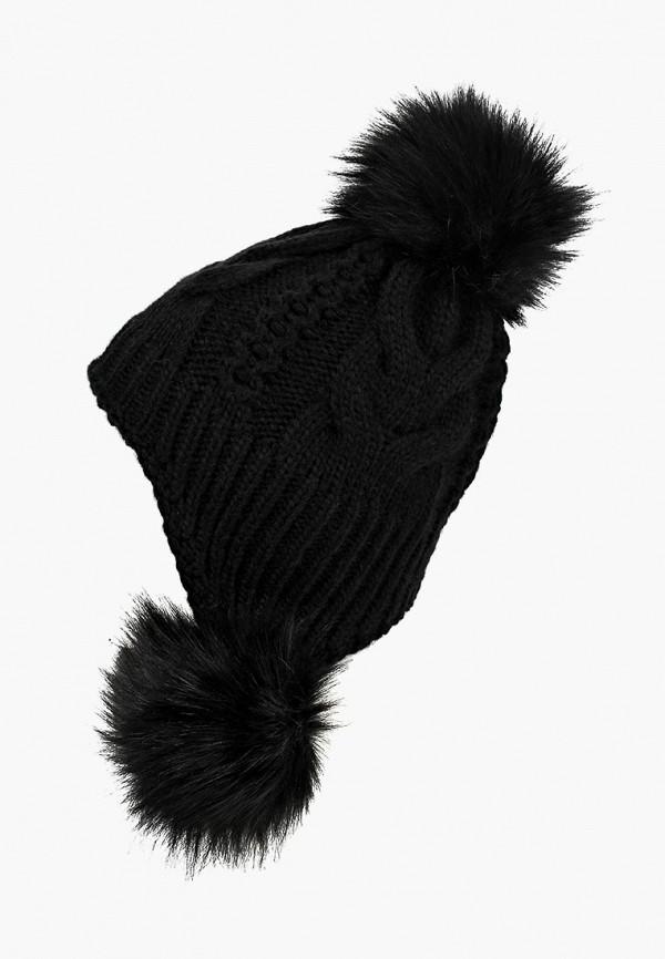 женская шапка fete, черная