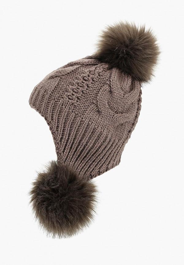 женская шапка fete, коричневая