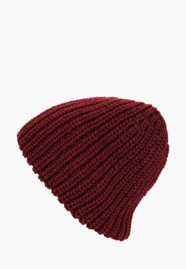 женская шапка fete, бордовая