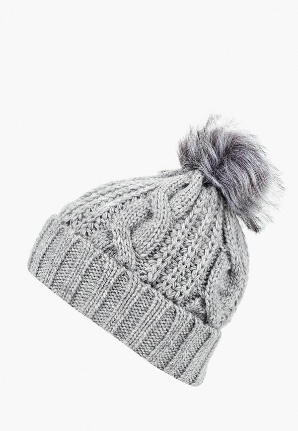 женская шапка fete, серая