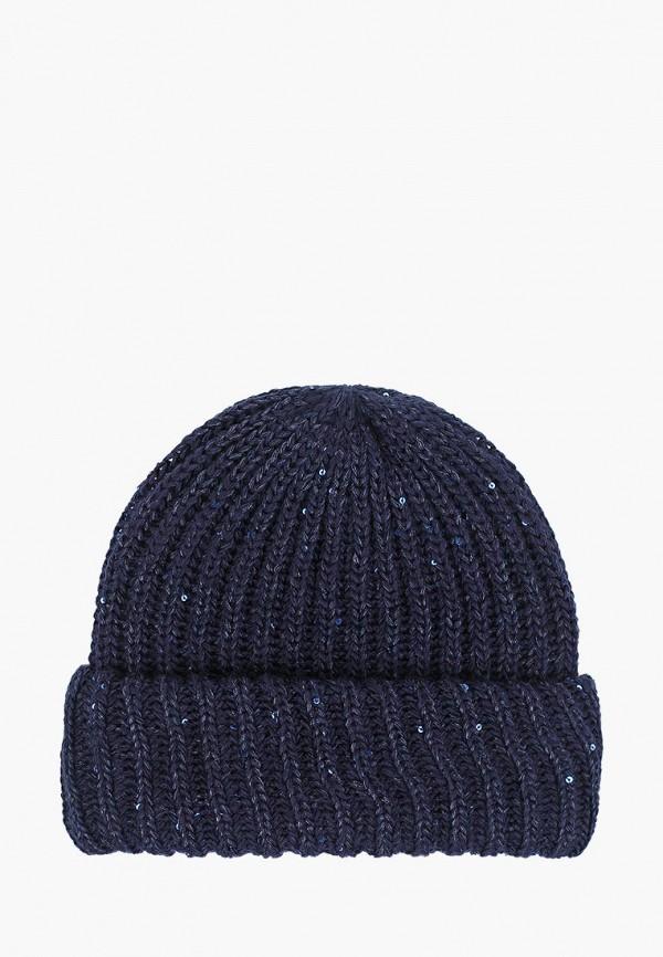 женская шапка fete, синяя
