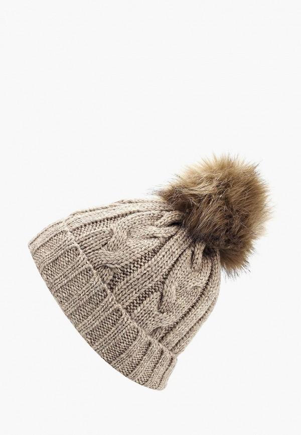 женская шапка fete, бежевая