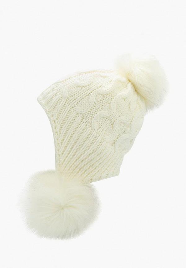 женская шапка fete, белая