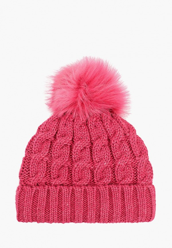женская шапка fete, розовая