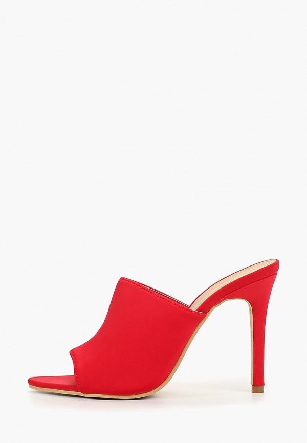 женское сабо fersini, красное