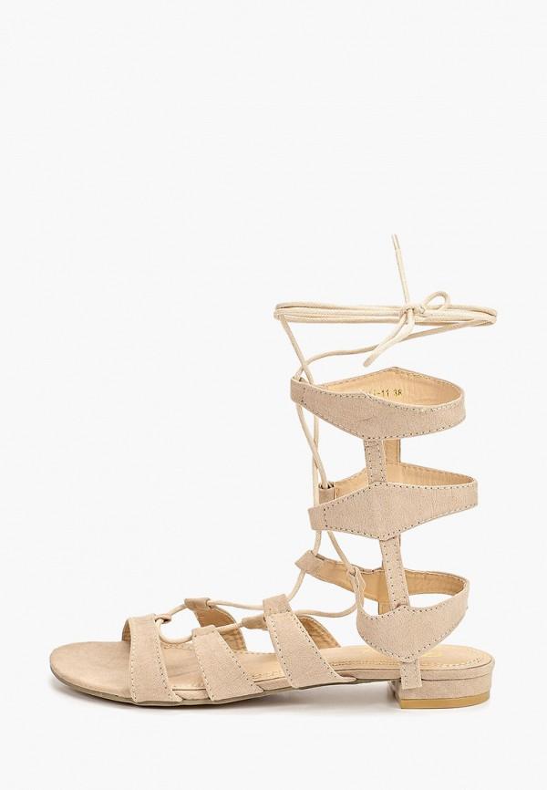женские сандалии fersini, бежевые