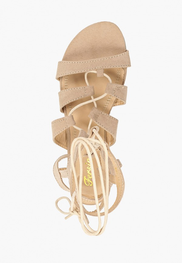 Фото 4 - женские сандали Fersini бежевого цвета