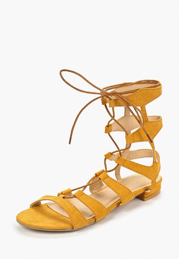 Фото 2 - женские сандали Fersini желтого цвета
