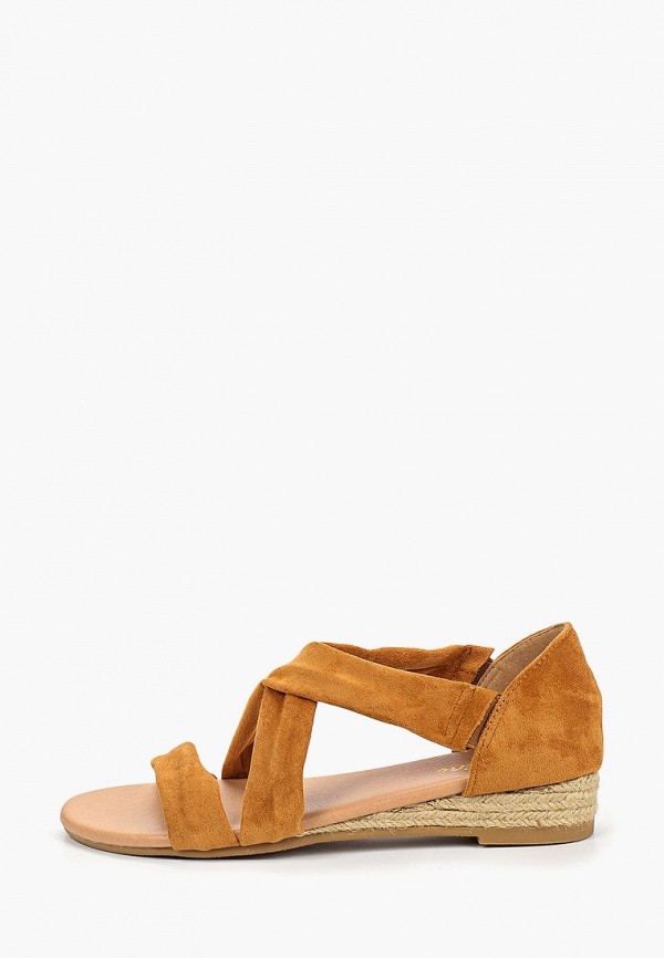 женские сандалии fersini, коричневые