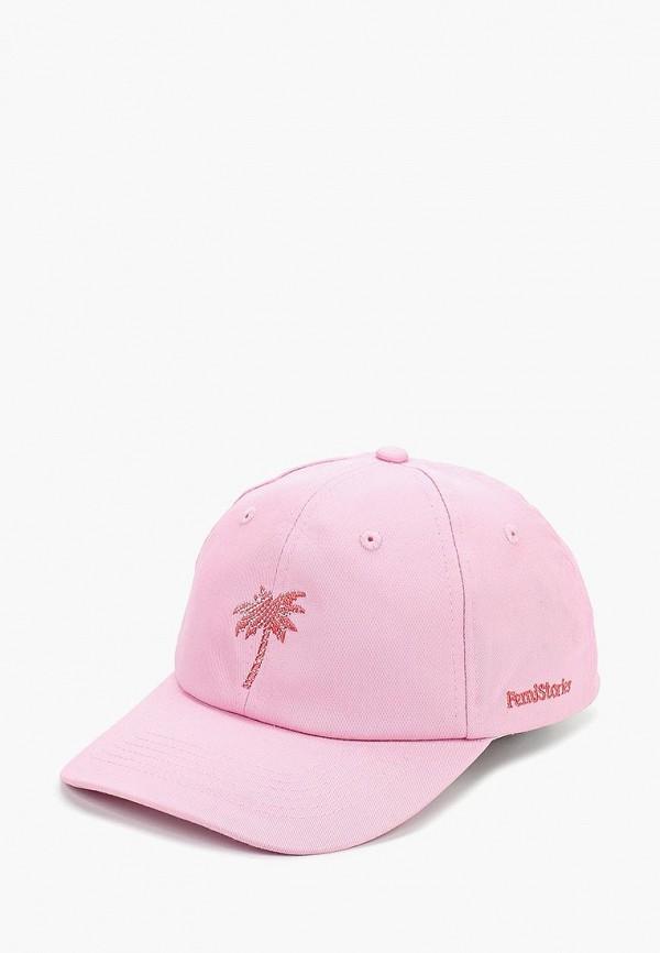 женская бейсболка femi stories, розовая