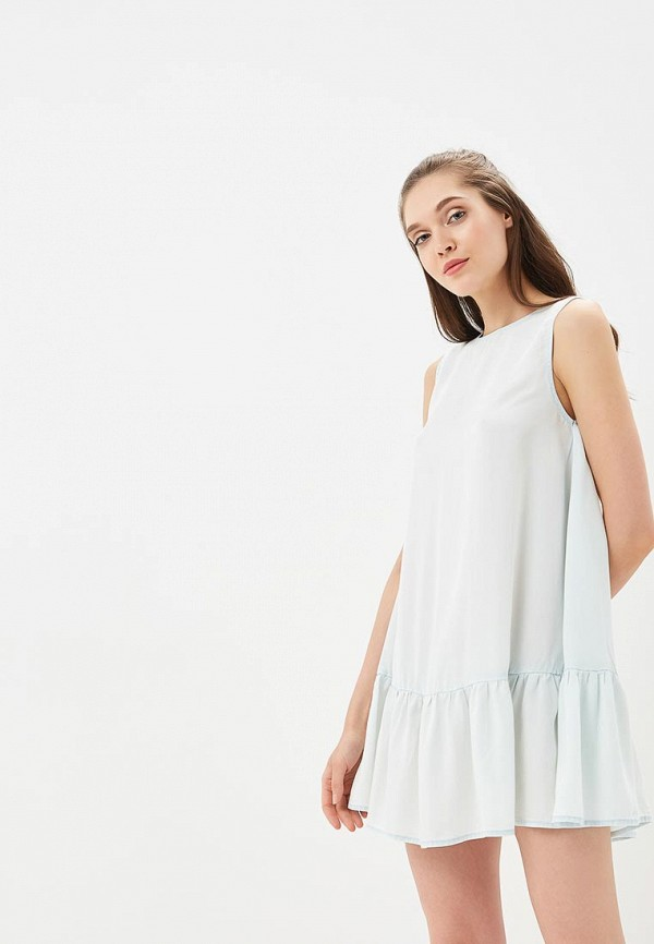 женское повседневные платье femi stories, голубое