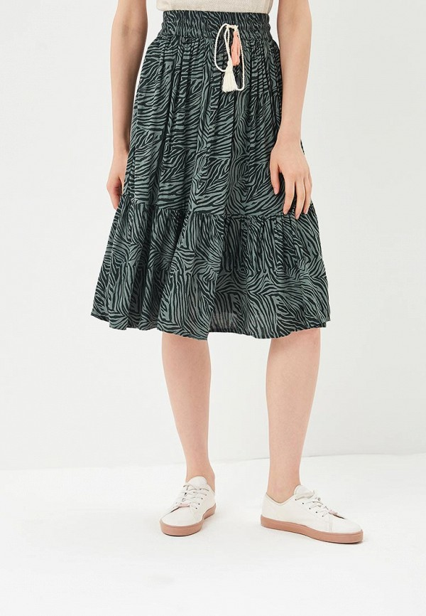 женская прямые юбка femi stories, зеленая