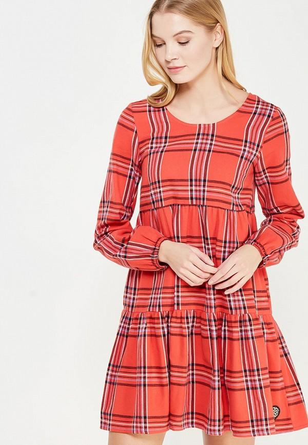 женское повседневные платье femi stories, красное