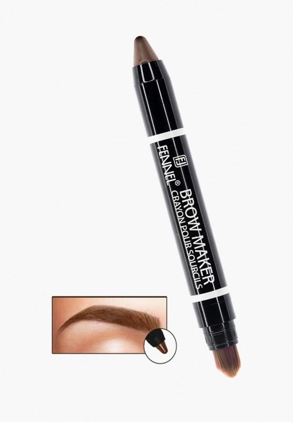 Карандаш для бровей Fennel Fennel FE028LWBOKV3 карандаш для бровей lumene nordic chic extreme precision eyebrow pencil 4 цвет 4 коричневый variant hex name 271c1a