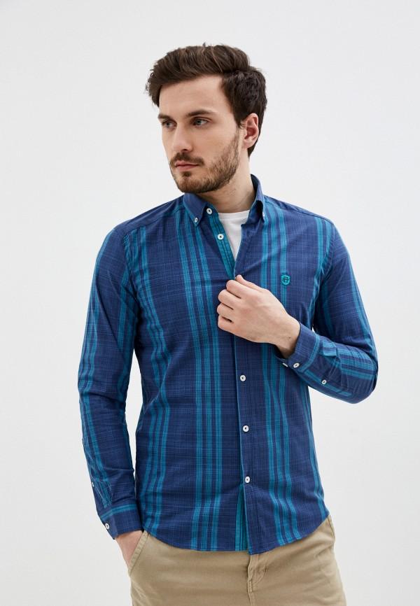 мужская рубашка с длинным рукавом felix hardy, синяя