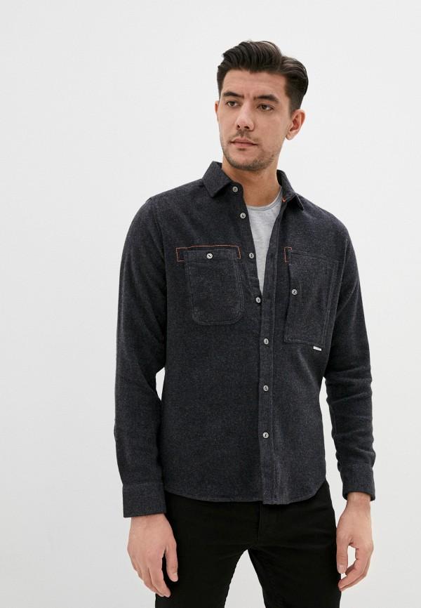 мужская рубашка с длинным рукавом felix hardy, серая