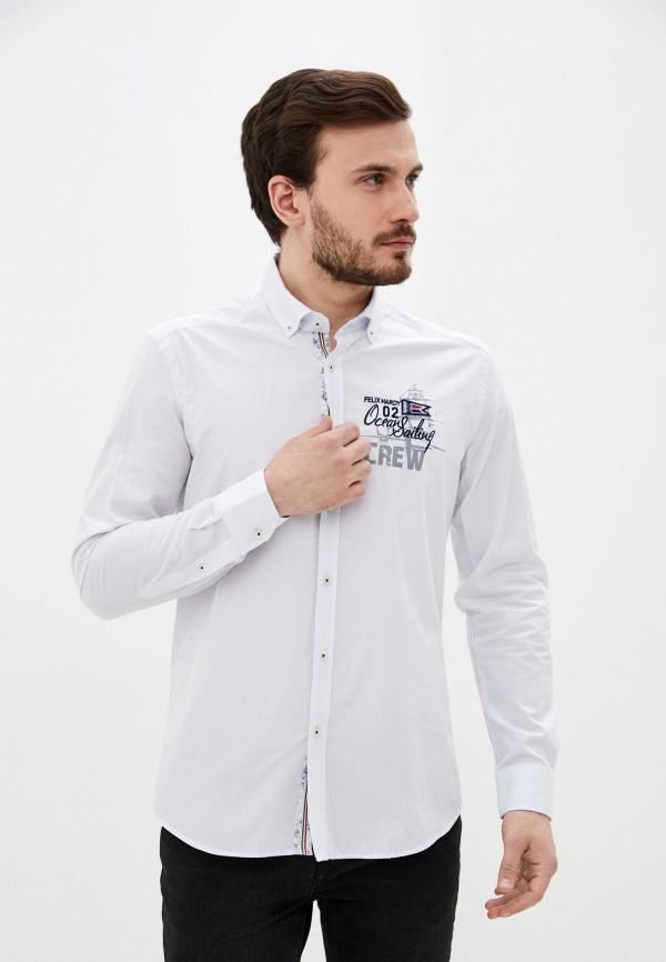 мужская рубашка с длинным рукавом felix hardy, белая