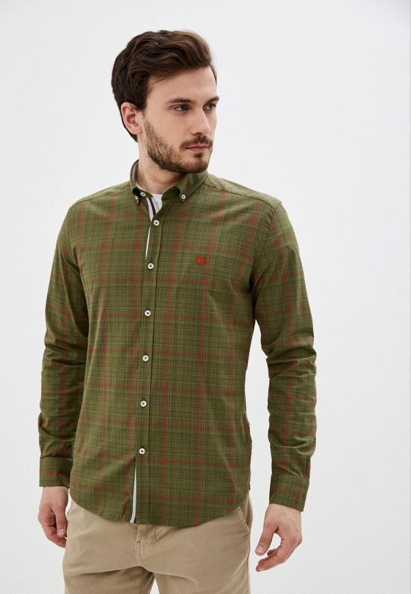 мужская рубашка с длинным рукавом felix hardy, хаки