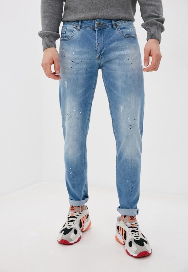 мужские зауженные джинсы felix hardy, голубые