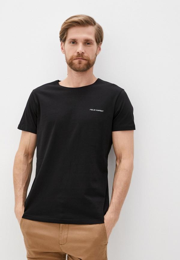 мужская футболка с коротким рукавом felix hardy, черная