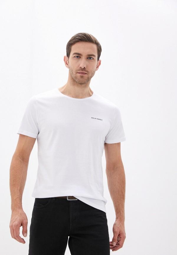 мужская футболка с коротким рукавом felix hardy, белая