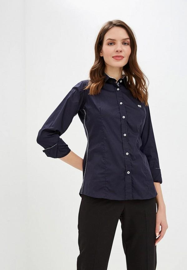 женская рубашка с длинным рукавом felix hardy, синяя