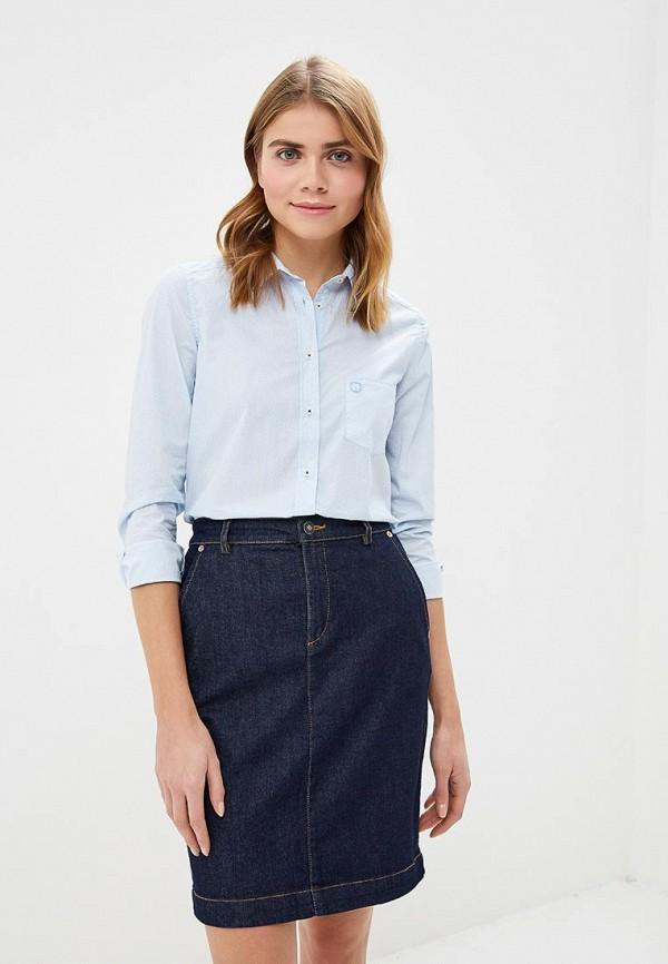 женская рубашка с длинным рукавом felix hardy, голубая