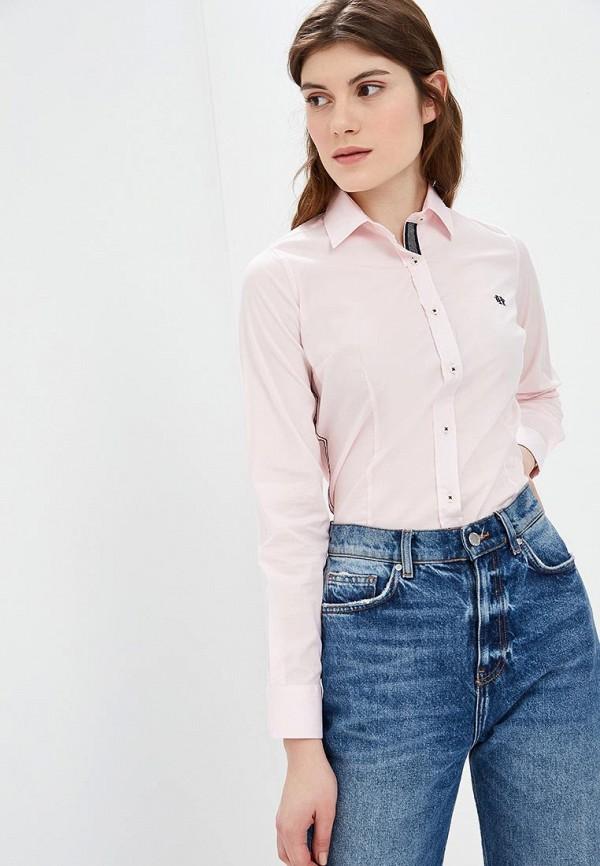 женская рубашка с длинным рукавом felix hardy, розовая