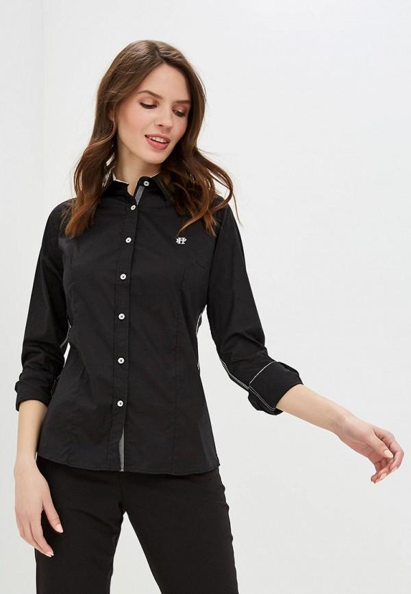 женская рубашка с длинным рукавом felix hardy, черная