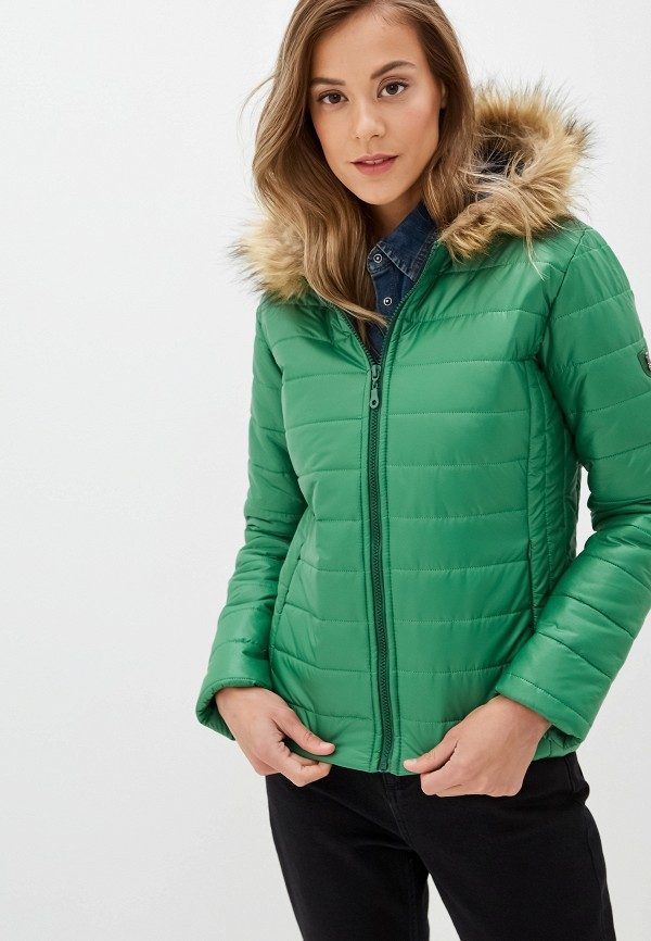 женская куртка felix hardy, зеленая