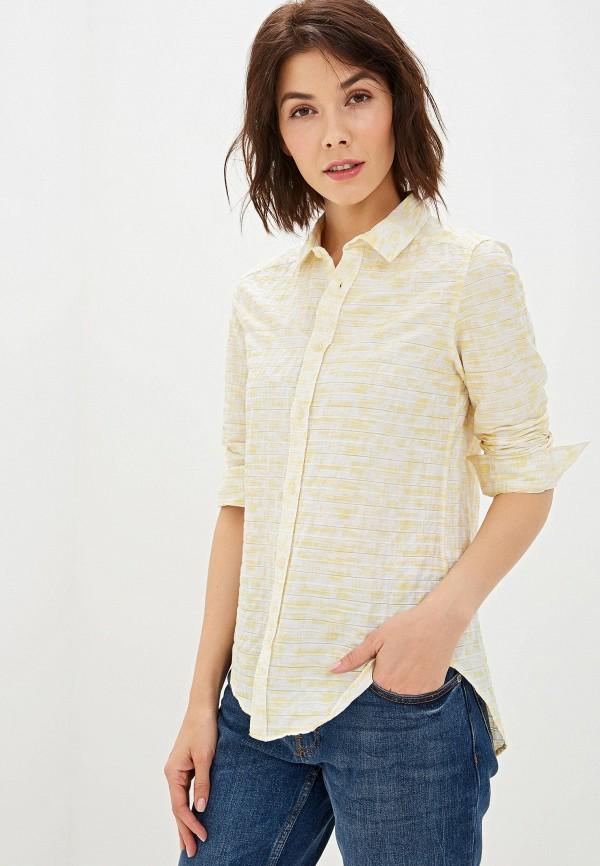 женская рубашка с длинным рукавом felix hardy, желтая