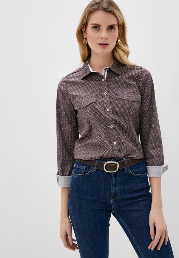 женская рубашка с длинным рукавом felix hardy, коричневая