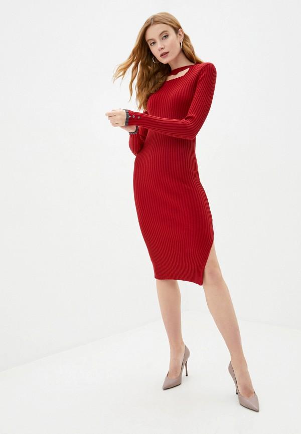 женское платье felix hardy, бордовое
