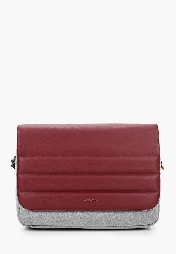 мужская сумка fedon 1919, бордовая
