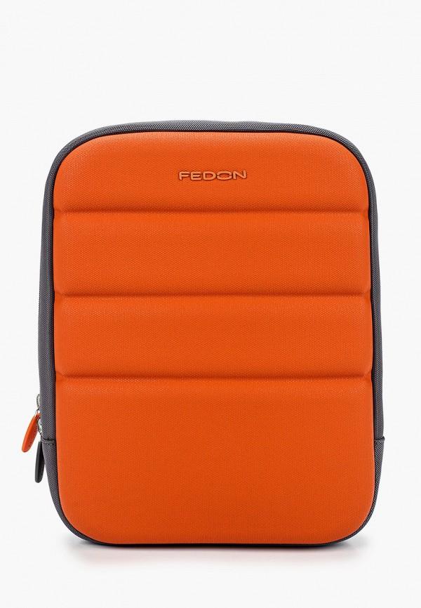 мужская сумка fedon 1919, оранжевая