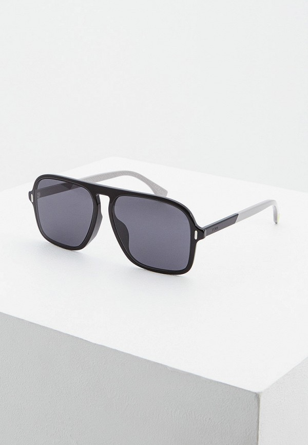 мужские квадратные солнцезащитные очки fendi, черные