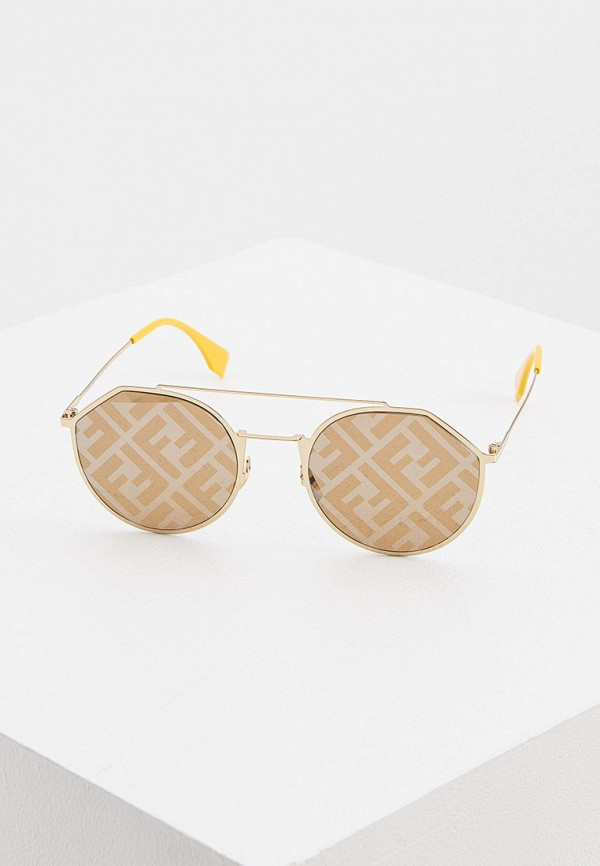 мужские солнцезащитные очки fendi, золотые