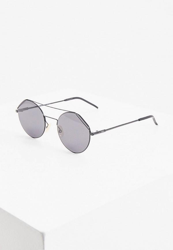 мужские круглые солнцезащитные очки fendi, черные