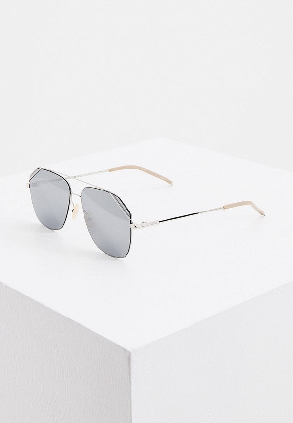 мужские авиаторы солнцезащитные очки fendi, серебряные